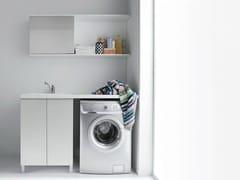 Mobile lavanderia in nobilitato con lavatoio per lavatrice IDROBOX | Mobile lavanderia per lavatrice - Idrobox