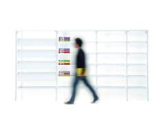 Libreria a giorno modulare in lamiera BACKUP METAL -
