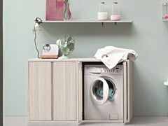 Mobile lavanderia in olmo per lavatriceACQUA E SAPONE | Mobile lavanderia per lavatrice - BIREX