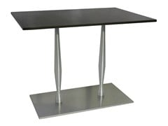 Tavolo rettangolare in acciaio inox per contract SLOGI-84-2 - Slogi