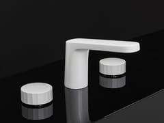 Rubinetto per lavabo a 3 fori con finitura opaca TEXTURE | Miscelatore per lavabo a 3 fori - Texture