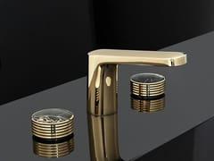 Rubinetto per lavabo a 3 fori con finitura lucida TEXTURE | Miscelatore per lavabo - Texture