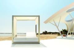 Letto da giardino matrimoniale reclinabile a baldacchino VELA | Letto da giardino reclinabile - Vela