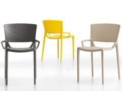 Sedia impilabile in plastica FIORELLINA | Sedia impilabile - Fiorellina