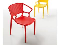 Sedia impilabile con braccioli FIORELLINA | Sedia con braccioli - Fiorellina
