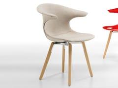 Sedia imbottita con gambe in legno LOOP | Sedia imbottita - Loop