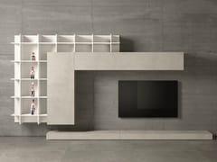 Parete attrezzata design con porta tv SLIM 47 - Slim