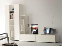 Parete attrezzata componibile con porta tv SLIM 8 - Slim