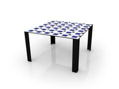 Tavolo quadrato in alluminio COCO | Tavolo - festa mobile, parigi anni venti