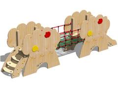 Struttura ludica in legno CASTELLO MELO - SCALA GRADINI - I love wood