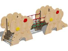 Struttura ludica in legno CASTELLO MELO - SCALA PIOLI - I love wood