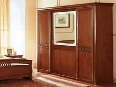 Armadio in ciliegio con ante scorrevoli con specchio VENEZIA | Armadio con ante scorrevoli - Venezia