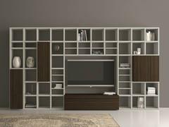 Libreria a giorno laccata con porta tv SPEED 25 - Speed