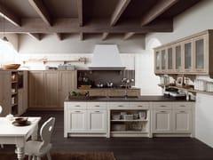 Cucina in stile rustico con penisola TABIÀ T01 - Tabià