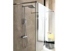 Colonna doccia a parete con doccetta con soffione LOOP | Colonna doccia - Loop