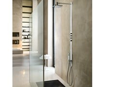 Colonna doccia termostatica con doccetta con soffioneLOOP | Colonna doccia con soffione - CARLO NOBILI RUBINETTERIE