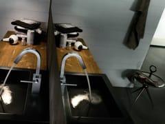 Miscelatore per lavabo con scarico automaticoCUBE | Miscelatore per lavabo - CARLO NOBILI RUBINETTERIE