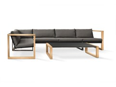 FueraDentro, MODULAR LOUNGE TEAK Lounge set da giardino in Batyline®