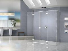 Box doccia rettangolare in cristallo PURA 5000 NEW | Box doccia rettangolare - Aura – senza profili