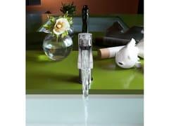 Miscelatore per lavabo a cascata con scarico automaticoNEW ROAD | Miscelatore per lavabo - CARLO NOBILI RUBINETTERIE