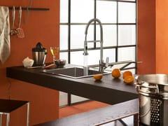 Miscelatore da cucina cromato con doccetta estraibileNEW ROAD | Miscelatore da cucina con doccetta estraibile - CARLO NOBILI RUBINETTERIE