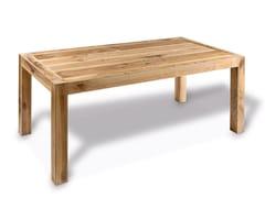 Tavolo In Ferro Brunito E Legno : Tavolo rettangolare in legno onda cp parquet