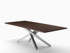 Tavolo rettangolarePECHINO | Tavolo in acciaio e legno - MIDJ
