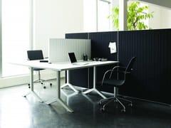 Pannello divisorio da scrivania fonoassorbente ALUMI | Pannello divisorio da scrivania -