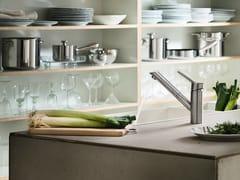 Miscelatore da cucina in acciaio inox con doccetta estraibileOZ | Miscelatore da cucina con doccetta estraibile - CARLO NOBILI RUBINETTERIE