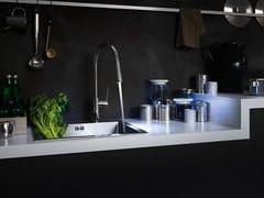Miscelatore da cucina cromato monoforo con doccetta estraibileWEB | Miscelatore da cucina con doccetta estraibile - CARLO NOBILI RUBINETTERIE