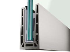 Q-RAILING ITALIA, EASY GLASS® PRO TOP Profilo per parapetti in vetro con regolazione del vetro