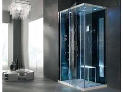 Gruppo Geromin, TEMPO 120 x 80 Box doccia multifunzione in cristallo con bagno turco