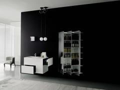 Pensile bagno in Solid Surface con specchio CTLINE | Mobile bagno - CTline