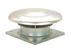 Torrino assiale da tetto con scarico orizzontale HCTB/HCTT -
