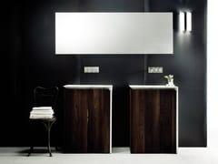 Mobile lavabo singolo in legno impiallacciato con cassetti B15 | Mobile lavabo in legno impiallacciato -