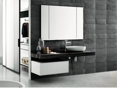 Piano lavabo in legno in stile modernoFLYER | Piano lavabo in noce - BOFFI