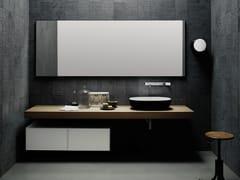 Piano lavabo in legno in stile modernoFLYER | Piano lavabo in rovere - BOFFI