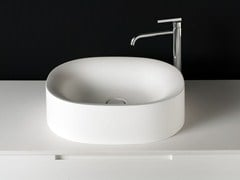 Lavabo ovale in Cristalplant® SABBIA | Lavabo da appoggio - Sabbia