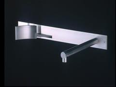 Rubinetto per lavabo a muro in acciaio inox CUT | Rubinetto per lavabo - Cut