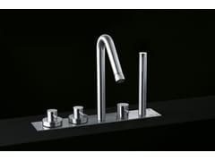 Rubinetto per vasca in acciaio inox con doccetta MINIMAL | Rubinetto per vasca - Minimal