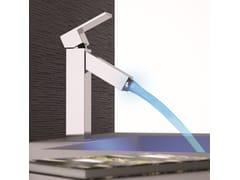 Miscelatore per lavabo monocomando a LED senza scarico Q-COLOR | Miscelatore per lavabo - Q-Color