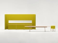 Divisorio free standing in tessuto BUILD | Pannello divisorio free standing - Build