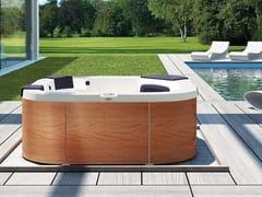 Minipiscina fuori terra con idromassaggio a 4 posti DELFI - Italian Design