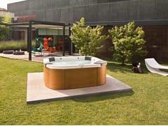 Minipiscina fuori terra con idromassaggio a 4 posti DELOS | Minipiscina fuori terra - Italian Design