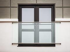 Parapetto in acciaio inox e vetro per finestre e balconi con LEDPARAPETTO ALLA FRANCESE | Parapetto in vetro - Q-RAILING ITALIA