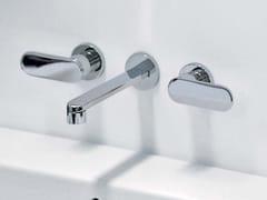 Rubinetto per lavabo a 3 fori a muro ONE | Rubinetto per lavabo a muro - One