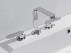 Rubinetto per lavabo a 3 fori da piano ONE | Miscelatore per lavabo a 3 fori - One