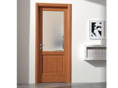 Porta a battente in vetro satinato PIRAMIDE | Porta in vetro satinato - Neo-Classico