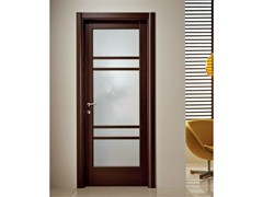 Porta a battente in vetro satinato XOSIA | Porta in vetro satinato - Neo-Classico