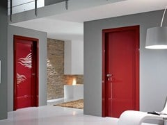 Porta a battente in vetro decorato SMART | Porta in vetro decorato - Moderno